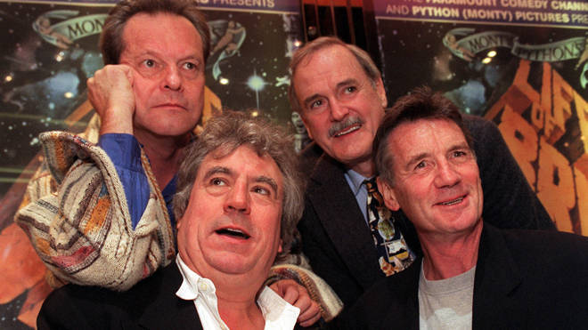 Monty Python stars Terry Gilliam, Terry Jones, John Cleese and Michael Palin pictured together in 1999
