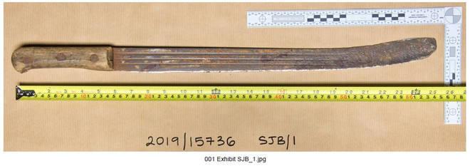 The 65cm machete used to attack PC Outten