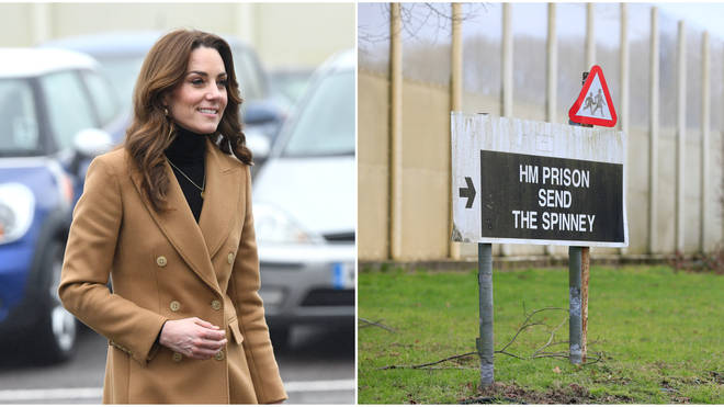 The Duchess of Cambridge arrived at HMP Send in Woking