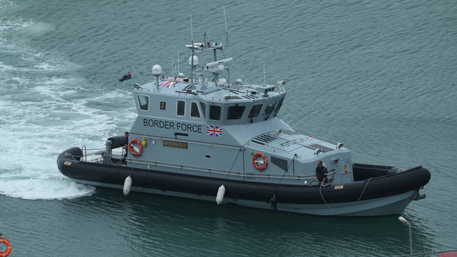 File photo: Border Force intercepted two boats in the Channel on Wednesday