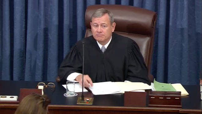 Chief Justice John Roberts opened Wednesday's session