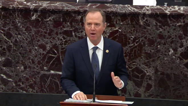 US Representative Adam Schiff makes his opening remarks
