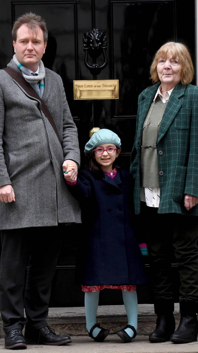 Richard Ratcliffe, the husband of Nazanin Zaghari-Ratcliffe, his daughter Gabriella Zaghari-Ratcliffe and his mother Barbara