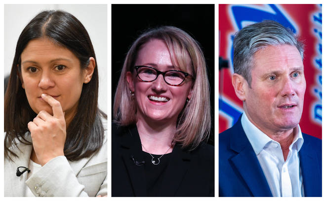 (left to right) Lisa Nandy, Rebecca Long-Bailey and Keir Starmer are all vying to be the next Labour leader