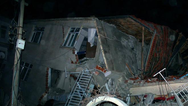 The 6.8 magnitude quake struck Elazig city centre on Friday
