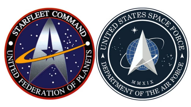 The new US Space Force logo has been mocked online