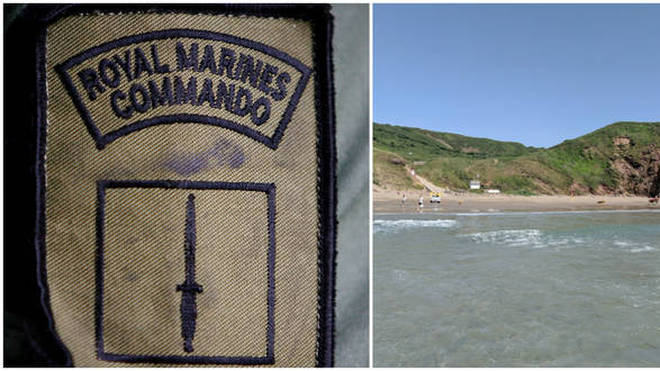 A Royal Marines recruit has died following a beach training accident