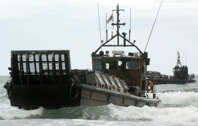 The type of landing craft used during beach assaults, shown in 2008