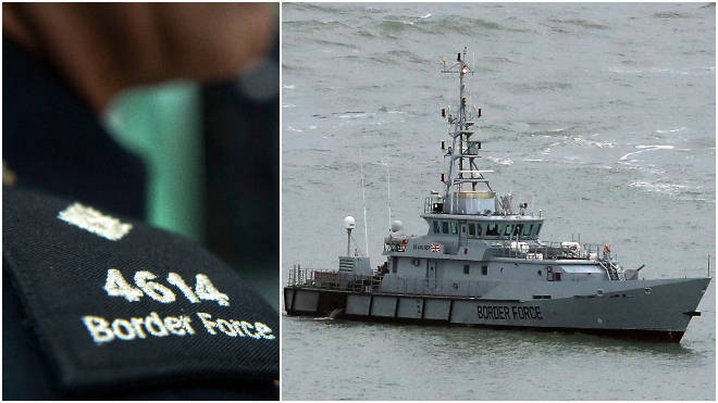 Border Force officials intercepted the small boat carrying 28 people