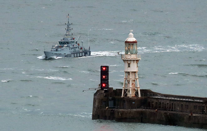 Border Force found the group of migrants off the coast of Dover