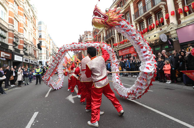 Thousands celebrated Chinese New Year in London