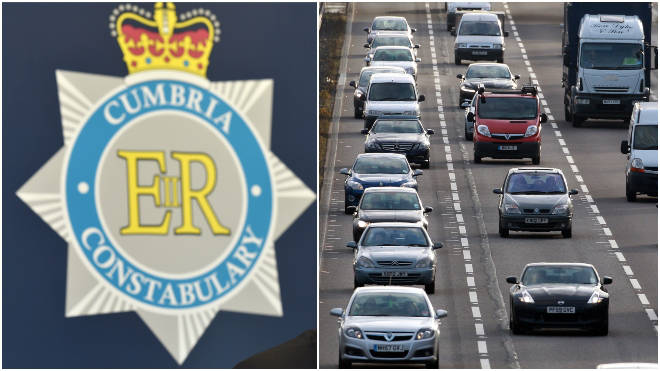 Cumbria Police confirmed a police vehicle was involved