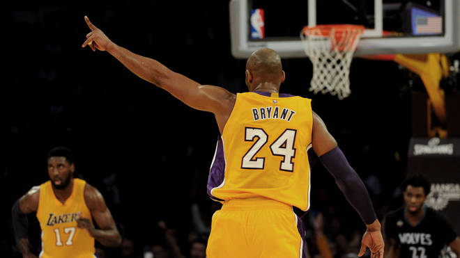 Bryant spent his 20-year career playing for the LA Lakers