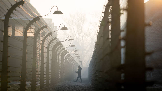 The barbed wire facility of the former Auschwitz I concentration camp.
