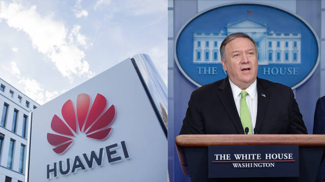 Mike Pompeo made the comments on the Chinese tech giant