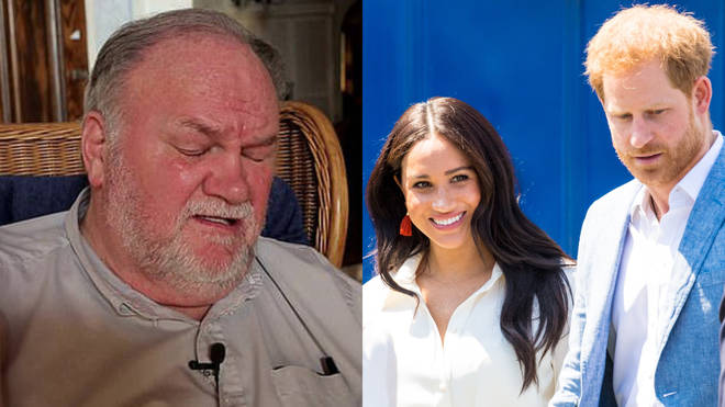 Thomas Markle was speaking live on TV about his daughter Meghan