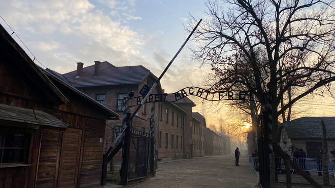 The gates of Auschwitz on World Holocaust Memorial Day