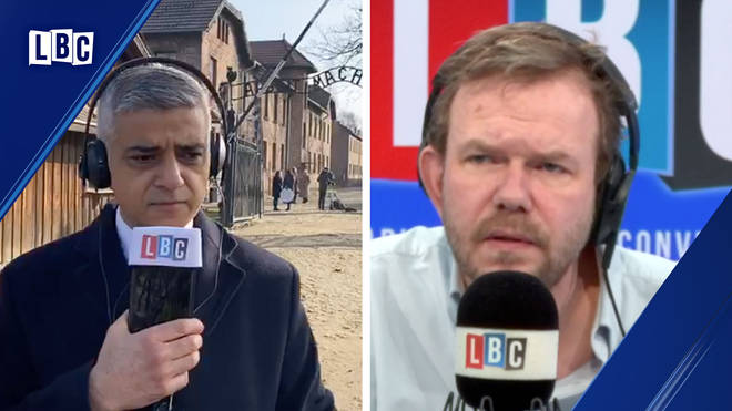 Sadiq Khan spoke to James O'Brien live from Auschwitz