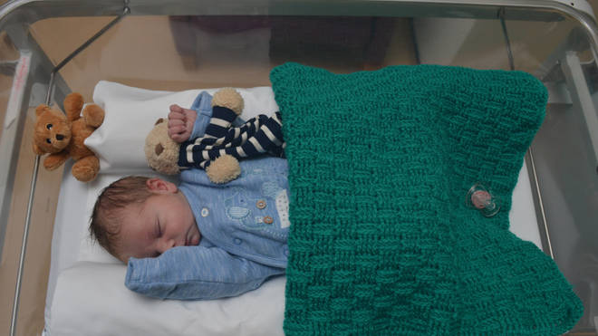 Baby Edward is safe and well in hospital
