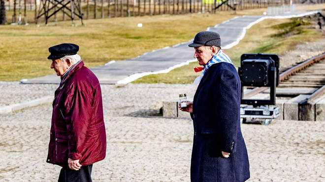 Survivors of the death camp gathered to commemorate the 75th anniversary of its liberation