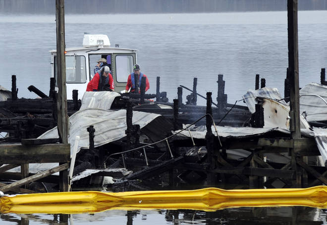 The Alabama dock fire destroyed at least 35 boats