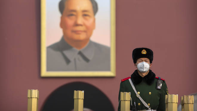 Masks have now been issued to China's military