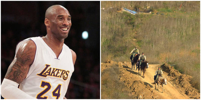 Police are patrolling the crash site where Kobe Bryant died alongside his daughters and 7 others to ward of looters