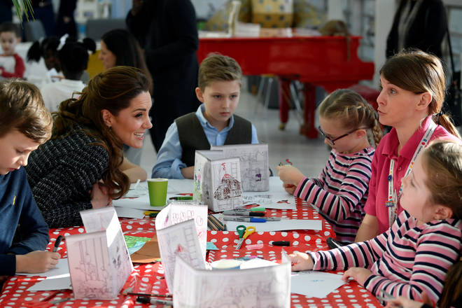 Kate showed off her creative side as she made figures for a small stage in the hospital