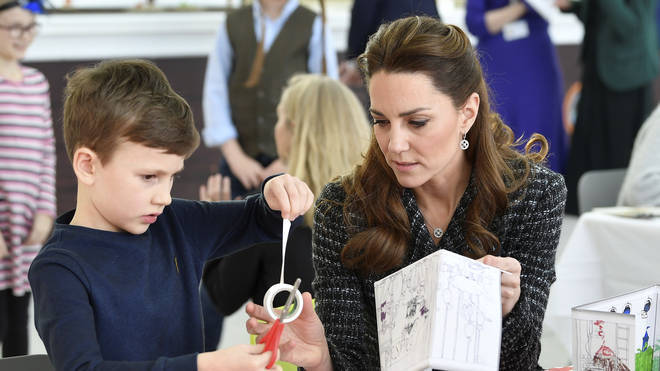 Kate showed off her arty side with the activities
