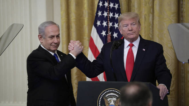 Netanyahu and Trump were speaking at the White House