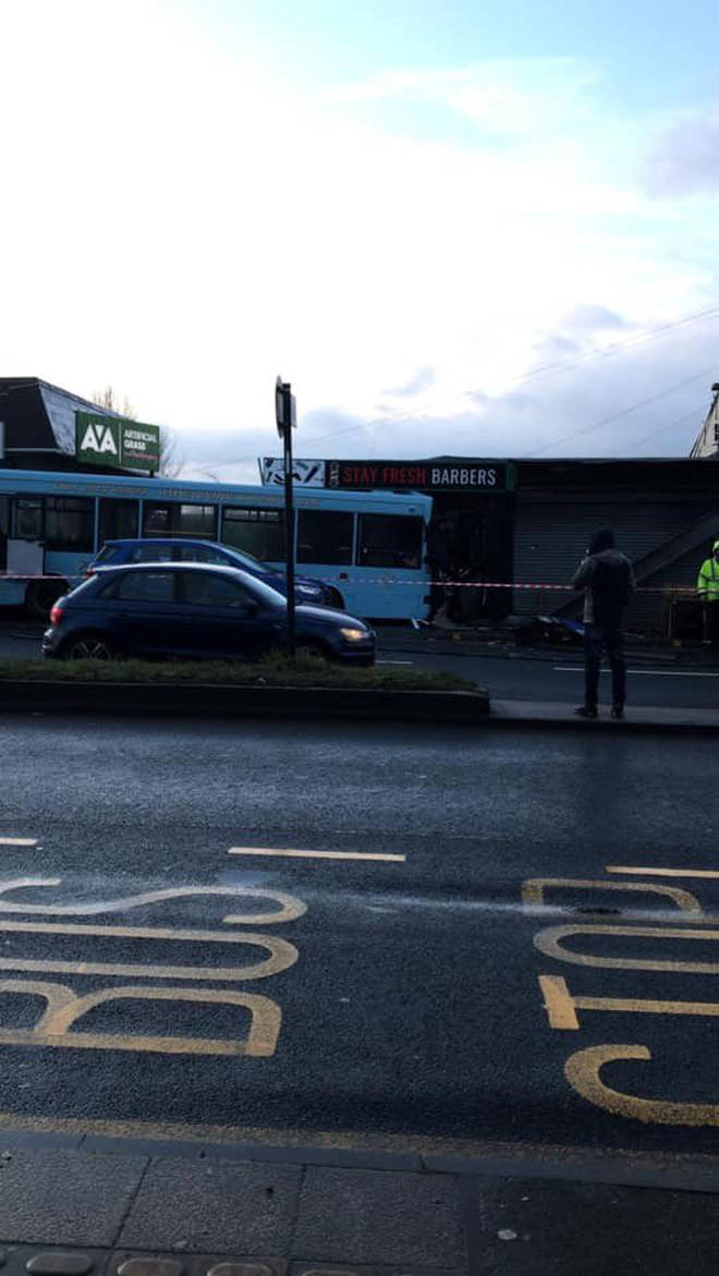 The scene of the bus crash