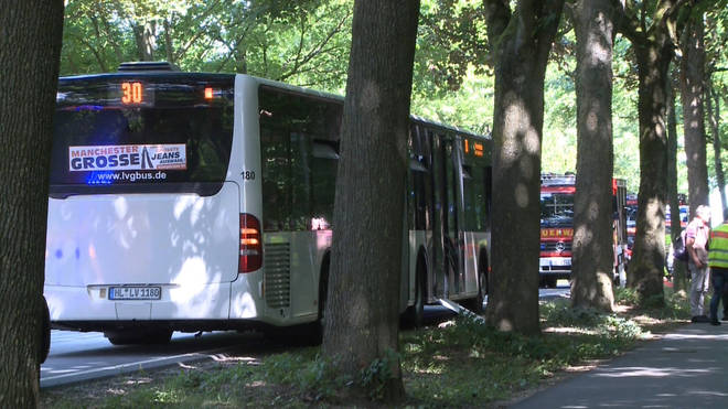 A number of people have been hurt in the bus attack in Northern Germany