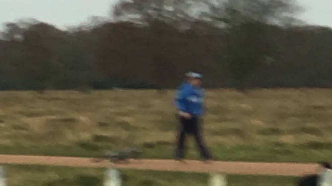 Police want to trace this cyclist after a man was left with a broken leg