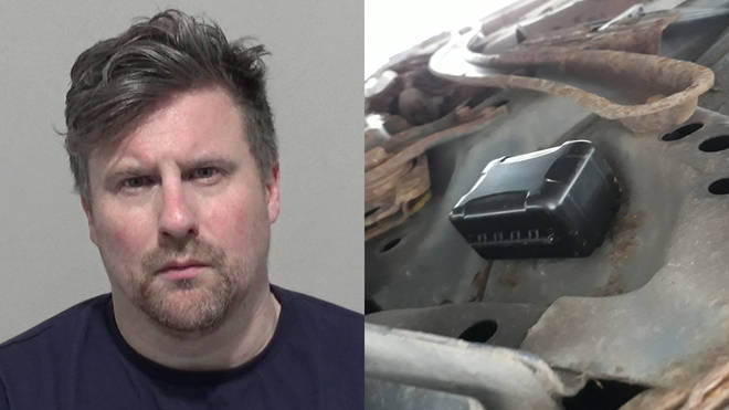 Keith Martin, 41, who secretly tracked his ex-girlfriend