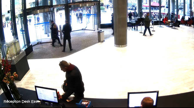 CCTV showed Buyukyoaidis stealing the Poppy Appeal charity box