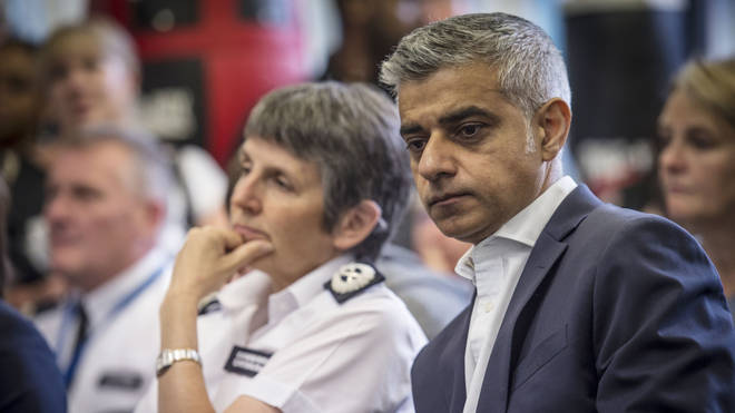 Met Police Commissioner Cressida Dick and Mayor of London Sadiq Khan working to find a solution to London's violence.