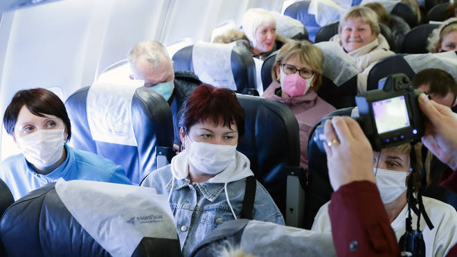 Passengers from Sanya scanned for coronavirus upon arrival at Novosibirsk International Airport