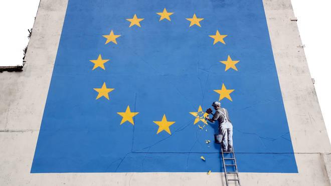 Banksy's EU painting