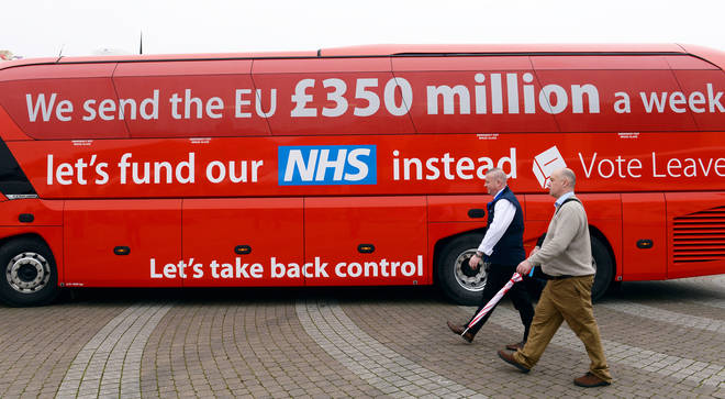 The red bus from the referendum campaign