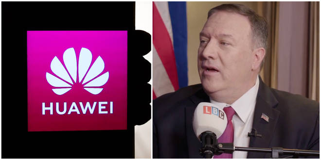 "US Secretary of State Mike Pompeo suggests the US will not share intelligence with the UK after Boris Johnson&squot;s ""disappointing"" Huawei decision"