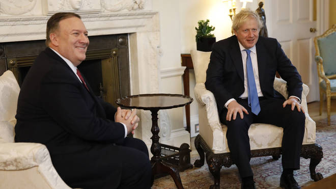 Boris Johnson met with Mike Pompeo earlier today