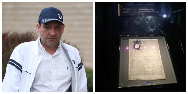 Mark Royden smashed into the Magna Carta's security case