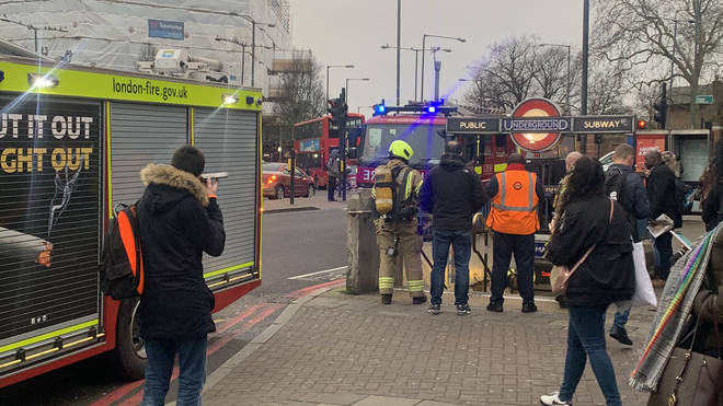 The evacuation took place at around 7.55am with three fire engines attending