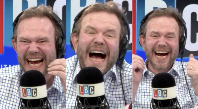 James O'Brien was left in hysterics by Luke's coronavirus call