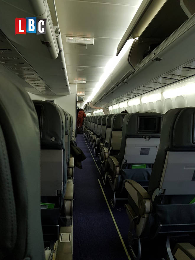 The view inside the evacuation plane