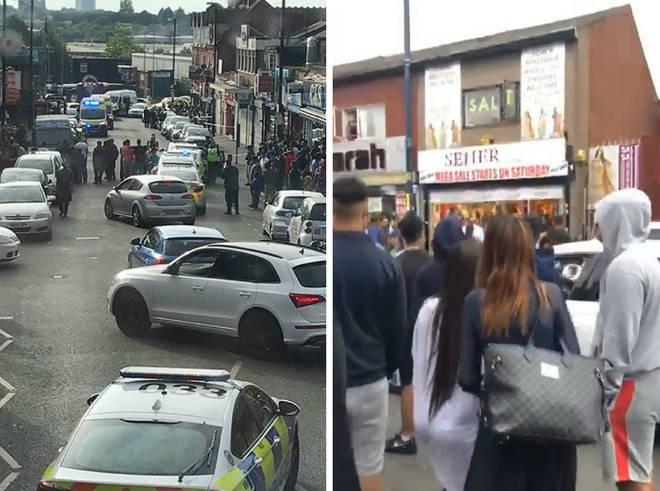 Mass brawl bridal shop Birmingham