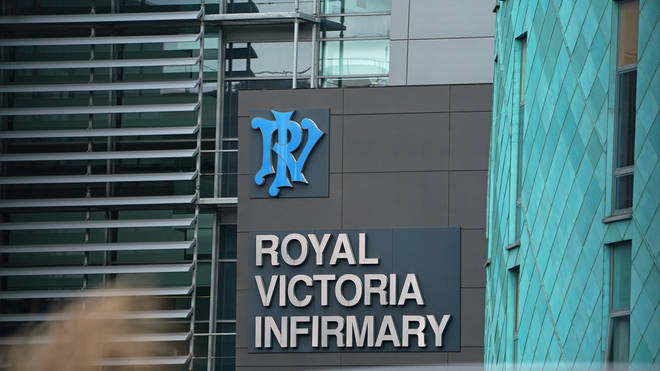 The two UK coronavirus patients were taken to the Royal Victoria Infirmary in Newscastle
