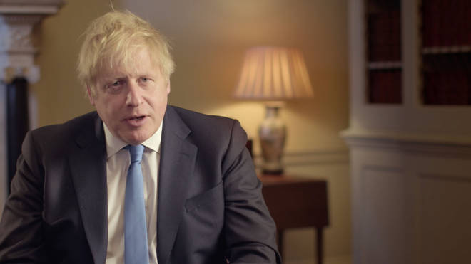 Boris Johnson addressed the nation on the night Britain leaves Europe