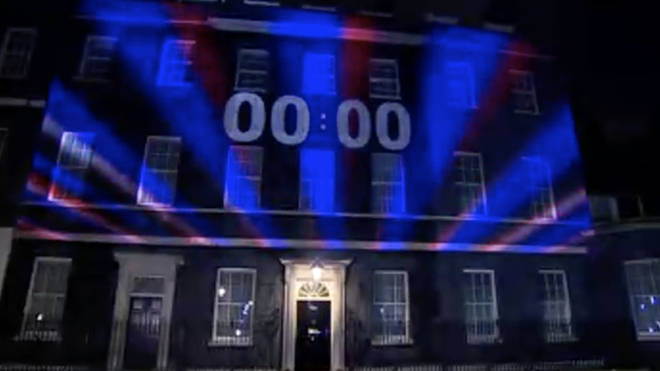 The moment Brexit arrived as the countdown clock hit zero