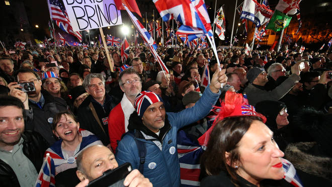 Brexit supporters hail the moment the UK left Europe